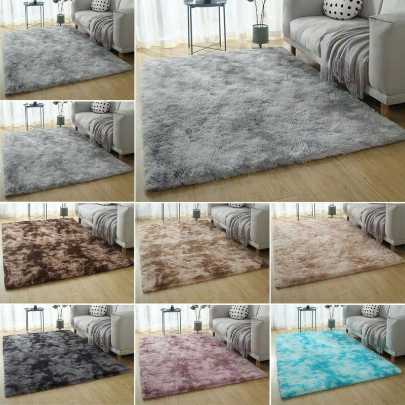 Shaggy Fluffy Anti-Skid Carpet Home Bedroom Floor Mat