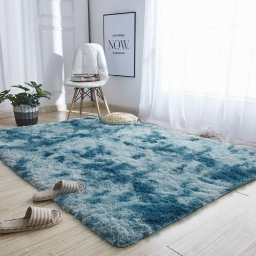 Shaggy Area Fluffy Tie-Dye Floor Living Room Bedroom Rug