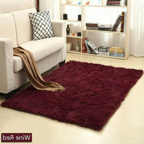 Soft Fluffy Shaggy Living Room Home Mat