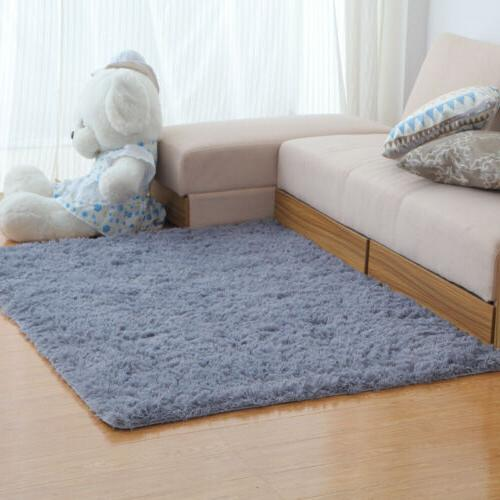 Soft Fluffy Rugs Shaggy Area Rug Living Room Bedroom Carpet Home