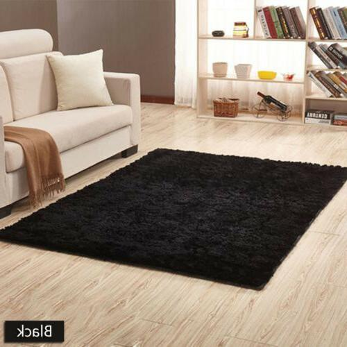 Soft Fluffy Shaggy Rug Room Home Mat