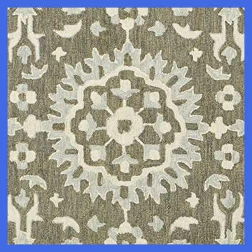 Stone Barnstead Floral Wool 2' Charcoal Beige