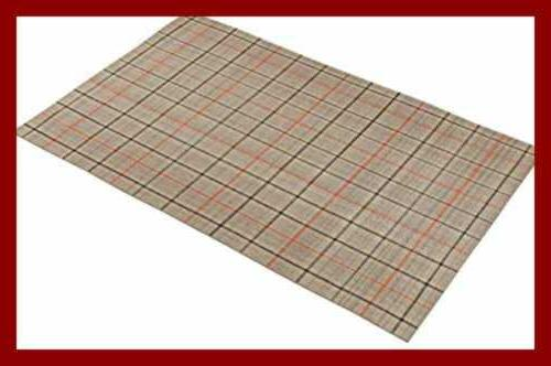 Stone & Casual Plaid Rug, x 8 Foot, Grey, Red
