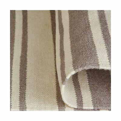 Stone Altos Dhurrie Area Rug, 4' x Grey and Ivory