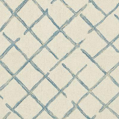 Stone Criss-Cross Rug, 8'x10', Blue and 8' 10'