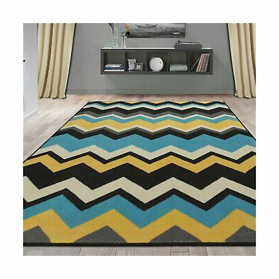 "Ottomanson Collection Waves Design 5'0"" X 6'0"", Blue..."