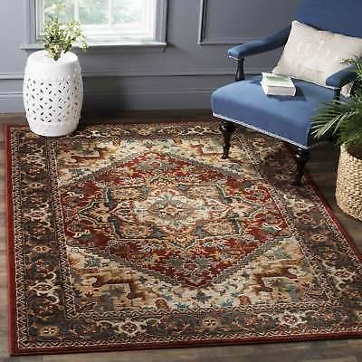 summit red grey area rug 6 7