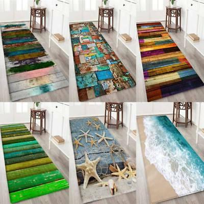 Non-slip 3D Print Thick Flannel Door Mat Kitchen Floor Mat B