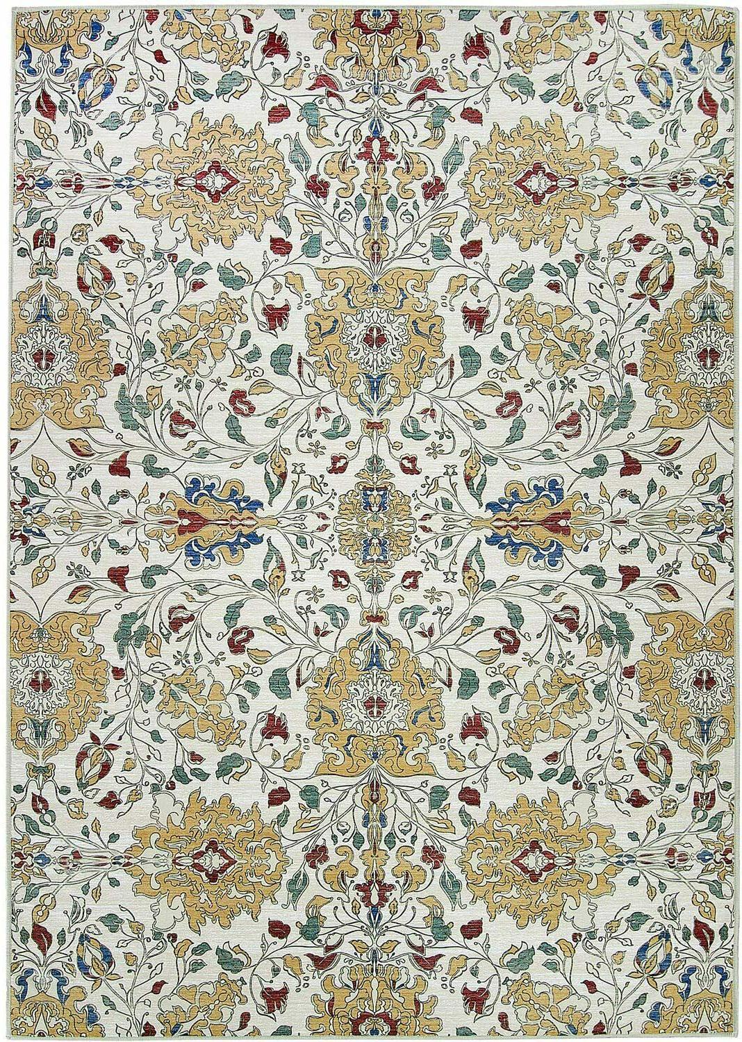 traditional floral cream washable stain resistant 5