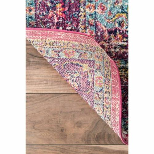 nuLOOM Traditional Area Rug in Pink | 4.5 Star Review