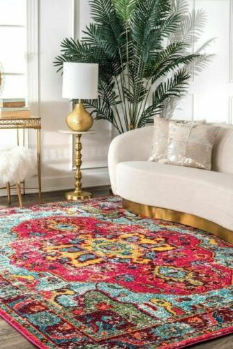nuLOOM Traditional Area Rug in Pink,