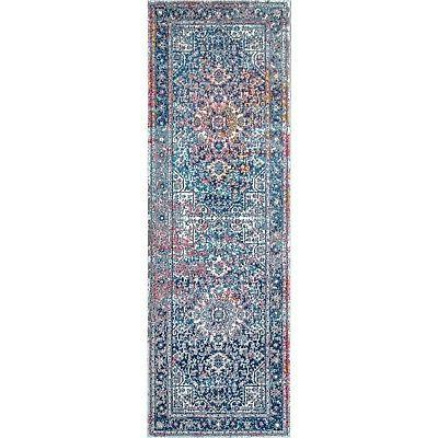 nuLOOM Star Area Rug Blue, White,