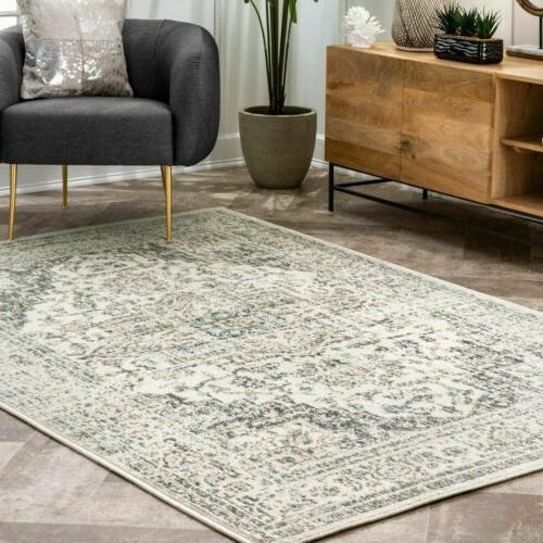 traditional vintage tanith area rug in cream