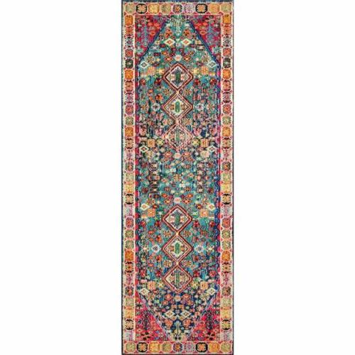 nuLOOM Traditional Area Rug in Red, Blue, Multi