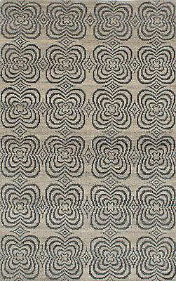 """Transitional Hand-knotted Area Rug 4'11"""" x 8'0"""" Eternity Woo"""