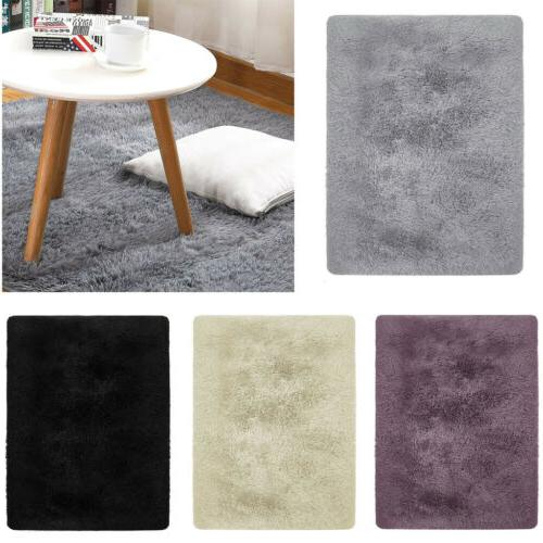 Anti-Skid Fluffy Rugs Shaggy Area Rug Home Dining Room Bedro