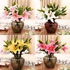 USA Realistic Artificial Lily Latex Flower Wedding Party Hom