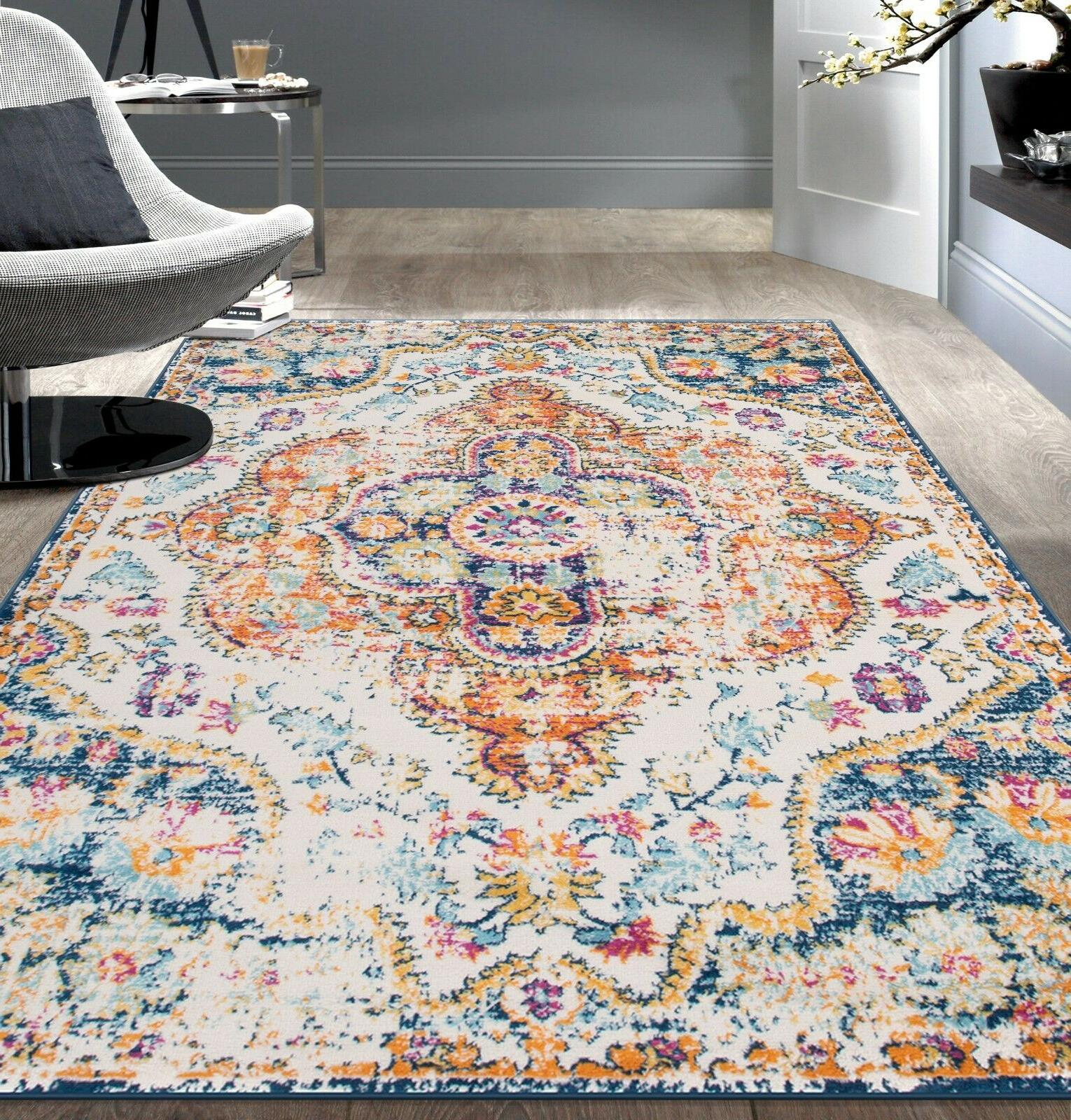Rugshop Vintage Distressed Bohemian Area Rug Multi