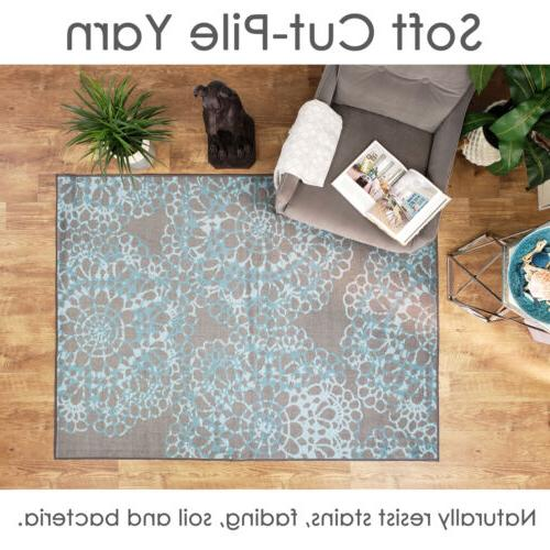 Washable Mat Gray Soft Cut Pile Slip by MH10