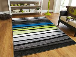 Large 8x11 Striped Rug Blue Rugs Clearance 8x10 Contemporary