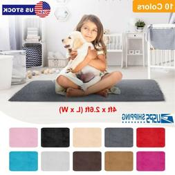 Large Fluffy Rugs Anti-Skid Shaggy Area Rug Dining Room Home