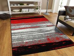 Large Grey Modern Rugs For Living Room 8x10 Abstract Area Ru