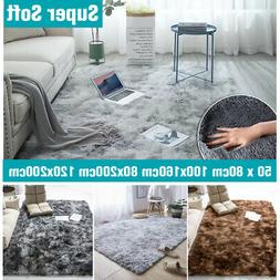 Large Shaggy Fluffy Rugs Anti-Skid Area Rug Dining Room Home