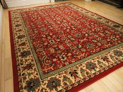 Large Traditional Area Rugs Carpet Oriental Rug 8x10 Red Rug