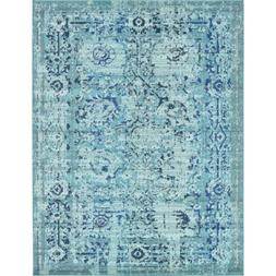 Unique Loom Light Blue Area Rug Carpet Floor 9X12 Indoor Bed