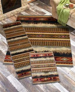 Lodge Cabin Rug Collection Accent Runner Area Rugs Southwest