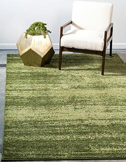 Unique Loom Loft Collection Contemporary Transitional Green