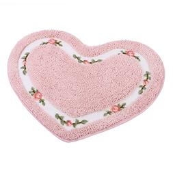 JSJ_CHENG Small Lover Non-slip Cute Rose Floral Area Rugs Fl