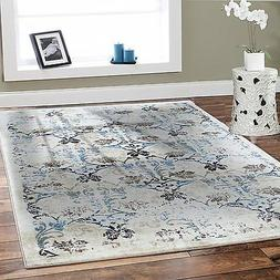 Luxury Area Rugs 8x10 Cream Leaves Living Room Rugs 5 x 8 Mo