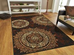 Luxury Century Contemporary Brown and Beige Modern Circles A