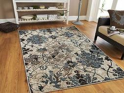Luxury Contemporary Rug 8x11 Red Flowers Area Rugs 9x12 Gray