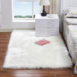 Luxury Rectangle Square Soft Artificial Wool Sheepskin Fluff