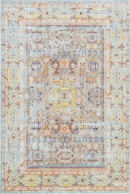 Luxury Traditional Vintage Modern Rugs 5' x 8' FT Light Blue