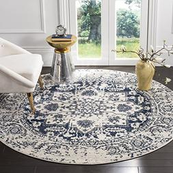 Safavieh Madison Collection MAD603D Cream and Navy Distresse