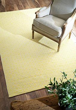 nuLOOM HMCO5C-8010 Ming Yellow Hand Loomed Holcombe Area Rug