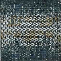Unique Loom Mirage Collection Abstract Vintage Teal Home Dé