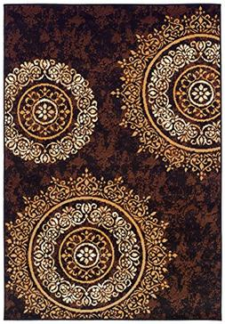 Modern Area Rugs Brown Rug for Living Room Rugs 5x7 Clearanc