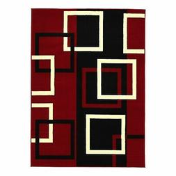 """Sweet Home Stores Modern Boxes Design Area Rug, 8'2""""X9'10"""","""