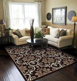 Modern Area Rug Black Large Rugs For Living Room 8x10 Cleara