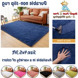 Modern Area Rug Soft Fluffy Living Room Bedroom Children Nur