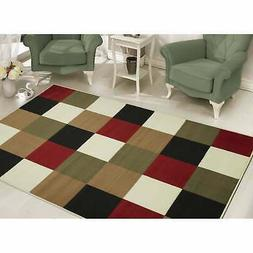 Sweet Home Stores Modern Boxes Design Area Rug 5' X 7', Mult