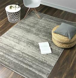 A2Z Rug Modern Area Rugs Cream Grey White Carpet Stain Resis