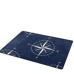 Modern Area Rugs 3x5 Nautical Compass Blue Area Rugs for Liv