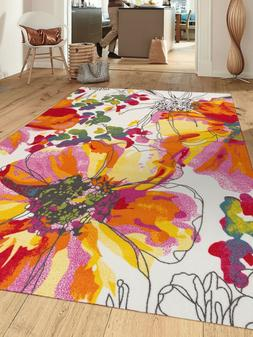 RUGSHOP CONTEMPORARY COLORFUL NON-SLIP  AREA RUGS