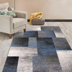 modern distressed boxes area rug