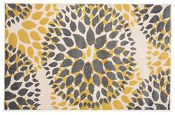 Rugshop Modern Floral Circles Design Area Rug, 2' x 3', Yell
